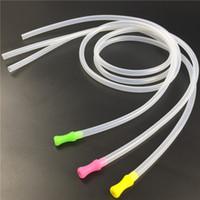 ingrosso paglia di diametro-Pipa in silicone con boccaglio in silicone per pipe da 5mm * 7mm diametro esterno in silicone trasparente 85cm boccaglio in silicone colorato con boccaglio n