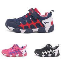 Wholesale Wholesale Rubber Flooring - New Arrival Kids Athletic Shoes Sport Shoes Boys Girls Breathable Anti-slip Wear-resisting Rubber Sole Hook & Loop