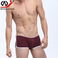 Wholesale Spandex Mens Boxer - New Arrival WJ 1pc men underwear spandex fabric painting design mens underwear boxers cueca boxer men calzoncillos 1009-PJ