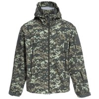 Wholesale Browning Xl Jacket Hunting - Wholesale-ESDY Men Outdoor Hunting Camping Waterproof Coats Soft Shell Hiking Camouflage Jacket With Hood