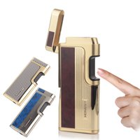 Wholesale Induction Lighters - Electronic Laser Touch Induction Switch Cigarette Lighter Butane Gas Windproof Cigarette Lighter