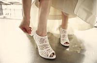 Kaufen Sie Im Grosshandel Weisse Vintage Stiefel High Heels 2018 Zum