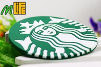 Wholesale 10pcs Fashion starbucks cup mat Creative household heat non slip silicone cup mat cup mat eat mat