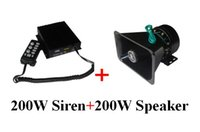 Wholesale fire alarm siren - America desig High quality 200W car siren warning alarm amplifiers with remote for police ambulance fire+ 1unit 200W speaker