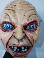 Atacado Hot Sale Horror Gollum Mask Realistic Evil Devil Men mask Scary Monster Movie Mask Acessórios de fantasia de Halloween Acessórios de Halloween