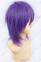 Wholesale Short Wig Cap - Wholesale-Kuroko no Basuke Kuroko's Basketball Murasakibara Atsushi Short Purple mix Cosplay Wig free wig cap free shipping