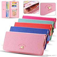 Wholesale S3 Case Bird - 5.5Inch Pouch Wallet PU Leather Case for iphone 5s, 5C 6 Plus, for Samsung Galaxy S3 S4 S5 For LG G4 Cover Bird Card Slot Cute