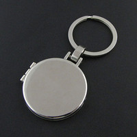Wholesale Metal Keychain Price - Promotional logo printing cheap price wholesale manufacture high quality metal photo frame keychain keyring key holder