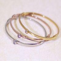 Wholesale titanium single bracelet - Female bracelet South Korea single diamond bracelet rose gold titanium steel trade jewelry fashion bracelet