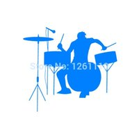 Wholesale Band Drum - Wholesale 20pcs lot Home Decorations Automobile and Motorcycle Vinyl Decal Car Glass window Stickers Jdm Drums Drummer Rock Band Music