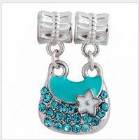 Wholesale Enamel Handbag Beads - Fits Pandora Bracelets Lady Handbag Enamel Charm Beads Dangle Loose Charms Bead For Wholesale Diy European Necklace Snake Chain Bracelet