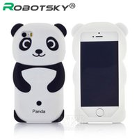 Wholesale Super Cute Iphone Cases - Wholesale-Newest fashional super cute cartoon Panda model silicon material Cover for iphone Case for iphone 5 5S 5C SE free shipping