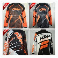 Wholesale Mountain Motorbike - 5 Colors Mountain Motorbike KTM Jersey Motocross Bicycle Motorcycle Cycling Shirts Outdoor Cycling protection Long sleeve T-shirt