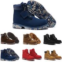 diagrama de forro al por mayor-Venta al por mayor nuevos hombres de cuero genuino botas botas de nieve Martin botas botas de cuero hombre mujer zapatos impermeables al aire libre envío gratis