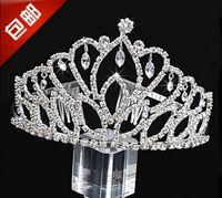 Wholesale Discount Wedding Hair Accessories - Crown Princess Crystal Crown Wedding Bridal Tiaras Party Hair Accessories In Stock 2016 Discount Style Children's Day