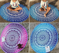 Wholesale Vintage Beach Towels - Round Beach Towel Sarong bath towels Party wedding Christmas decorations cotton printed table cloth vintage yoga picnic mat wall decor gift
