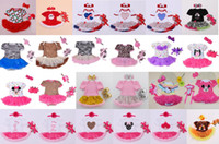 Wholesale Tutu Shoes For Babies - Baby girl romper dress Baby Tutu Dress Lovely Baby Short Sleeve Romper+Headband+Shoes Sets 36 Styles For Choose