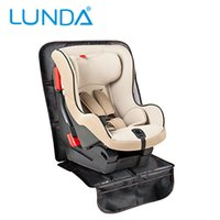 Wholesale Slip Cover Car - LUNDA Luxury leather Car Seat Protector Child or baby car seat cover Easy Clean Seat Protector Safety Anti Slip Universal Black