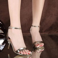 Wholesale Womens Heel Shoes Highest Quality - Luxury brand sandals womens shoes fashion high quality zapatos mujer casual superstar roshe ladies flats gold silver high heel channel shoes