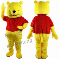 Wholesale Pooh Costume Xxl - pooh mascot costume high quality fancy dress adult size party Halloween,christmas party clothing