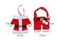 Wholesale 2016 Hot Sale Christmas Kitchen Cutlery Suit Holders Porckets Knifes and Folks Bag Snowman set Party Father Christmas Dinnerware Sets