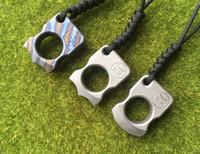defesa de punhal venda por atacado-Andy Frankart SFK anel de dedo único TC4 Titanium Auto Defesa punhais punhos bolso Ao Ar Livre Sobrevivência Fivela EDC Knuck knuckles Multi ferramentas
