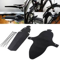Wholesale Bicycle Mudguards - 2pcs Road Bike Fender MTB Bicycle Back Fenders Sports Cycling Bikes Parts with Ribbon Plastic Material Fender Front Rear Mudguard