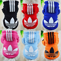 Wholesale Pink Hoodies For Dogs - Cotton Pet Dog Clothing Sweater for Pet Dog Clothes Winter Playsuit Coat for Dog Hoodies Pets Costumes Dress Coat