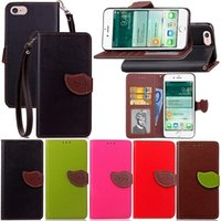 Wholesale Iphone Money Purse - For Iphone X 8 7 Plus 5.5 6 6S Leaf Bright Photo Frame Wallet Leather +3Card Slots PU Flip Cover Money Pocket +TPU Stand Holder Pouch Purse