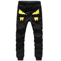 Wholesale Unique Mens Pants - Wholesale-Mens Joggers 2016 Mew Men Brand Society Novelty Unique Demon pants Hip Hop Black Sweatpants Fashion Sport Trousers