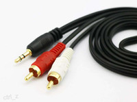 Wholesale Cable Tv Av Jack - 3.5 MM Male Jack to AV 2 RCA Male Audio Cable Cord AUX for Mp3 TV Speakers 1.5M 3M 5M 10M