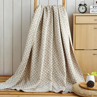 Wholesale Towelling Coverlet - new arrival 100% Cotton Washing gauze Towelling Coverlet Blanket Throw (Maze Plaid) towel Blankets bedding Quilt Sheet Sofa