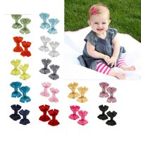 Wholesale Hair Clips Packets - 10pcs lot children 20 Color Hair Accessories baby bow barrettes hair clip for Toddlers Teens hair wear wholesale e-packet freeshipping