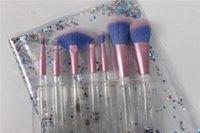 Wholesale Wholesale Crystal Cosmetic Brushes - 2017 New good Liquid Flash 7 Set Cosmetic Brush Flow Flash Makeup Brush Fantasy Mermaid palette eyeshadow Crystal makeup brush