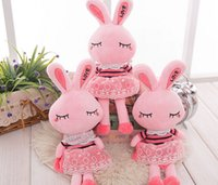 Wholesale Pink Stuffed Toy Rabbit - Wholesale MOQ 10pcs Rabbit Plush Toy Children Plush Toys Doll Stuffed Baby Doll Chrismas Gift Free Shipping