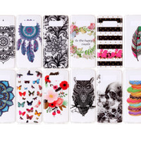 Dace Donuts Flower Soft TPU IMD Case pour Galaxy Note 8 S8 Plus S7 Edge Skull Stripe Butterfly Cover Dreamcatcher Owl Cartoon peau claire