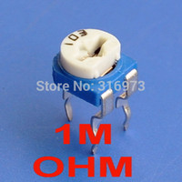 Wholesale M OHM Top adjust Carbon Composition Single turn Trimmer Potentiometer