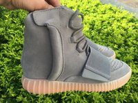 Wholesale Grown Woman - Kanye Boost 750 Gum Grow in the dark High Top Sneakers for Men and Women Red October Blackout 750 Boosts Shoes No Box