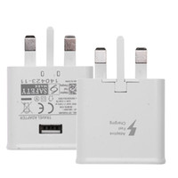 Wholesale Single Usb Ports - UK Plug 5V 2A AC Fast Charging Single USB Port Smart Phone Wall Charger for Samsung Galaxy NOTE4 S6 S7 S8 Plus