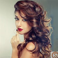 Wholesale Dyed Hair Wigs - Newest Fashion Womens Curly Style Long Party Wigs Halloween Christmas Club Gifts for Ladies Synthetic Wigs Dyed Multi Color Hairs Dyeabl CC