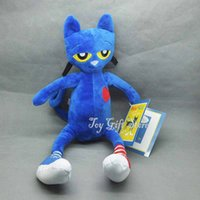 """Wholesale Wholesales Chile - Free Shipping EMS Cute Pete The Cat 12"""" 30.5CM Plush Doll Stuffed Toy New For Chile Gifts"""