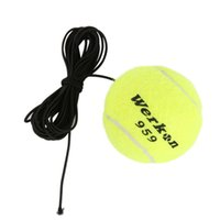 Wholesale Tennis Balls Elastic - Wholesale- New Arrival Tennis Training Ball with rubber Band for Training Beginner Tennis Ball Elastic Rubber Band Ball Tennis Training