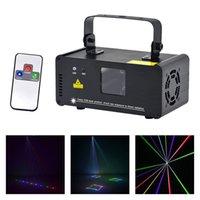 dmx 512 remote venda por atacado-AUCD IR Remoto DMX 512 Mini 400 mW RGB Full Color Iluminação de Palco Do Laser Scanner de DJ Festa de Dança Show de Luzes do Projetor DM-RGB400
