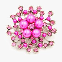 Big Snowflake Pearls Broches Pins para mulheres Moda Natal Crystal Brooch Jóias Lady Luxury Weeding Corsage Scarf Clip