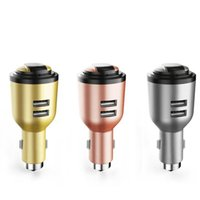 Compra Micro Usb Del Caricatore Di Emergenza-IVLWE 3 in 1 Dual USB Smart Car Charger senza fili Bluetooth 4.1 Auricolare emergenza sicurezza Hammer incorporato microfono per iPhone iPad iPod