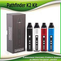 elektronische dampf-zigaretten großhandel-Pathfinder V2 2 Dry Herb Vaporizer Stift Kräuter Starter Kits hebe elektronische Zigarette Kit 2200mah Dampf 510 Thread 0209649