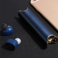 Wholesale Bluetooth Iphone Pairing - Newest Binaural Wireless Bluetooth Paired Headphones Waterproof Headset S2 Mini TWS Magnetic Charging Earbud twins earphone for iphone 8 7