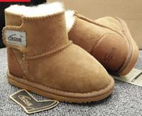 Wholesale Cheap Warm Kids Boots - Hot Children's Snow Boots Cheap Kids Shoes LJ Unisex Boots Warm Stable Shoes 6 colors