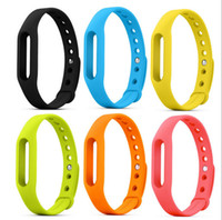 Wholesale Tpe Belts - Smart Wearables Straps Xiaomi Mi band straps TPU+TPE Belt MiBand Bracelet wristband Replacement Smart Accessories 10 color + Free DHL
