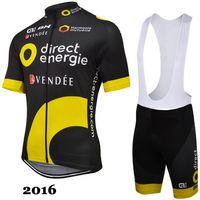 Wholesale Cycling Jersey Bib Shorts Yellow - 2016 Cycling Jerseys Summer Breathable Racing Bicycle Clothing Quick-Dry Lycra GEL Pad Race MTB Bike Bib Pants black yellow